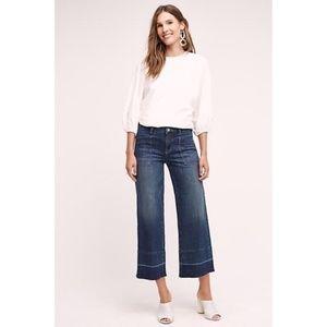 Anthropologie Pilcro Wide Leg Crop Jeans Size 27